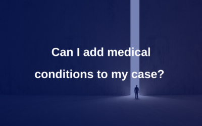Can I add medical conditions to my case?