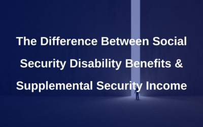 Difference between Social Security Disability Benefits and Supplemental Security Income